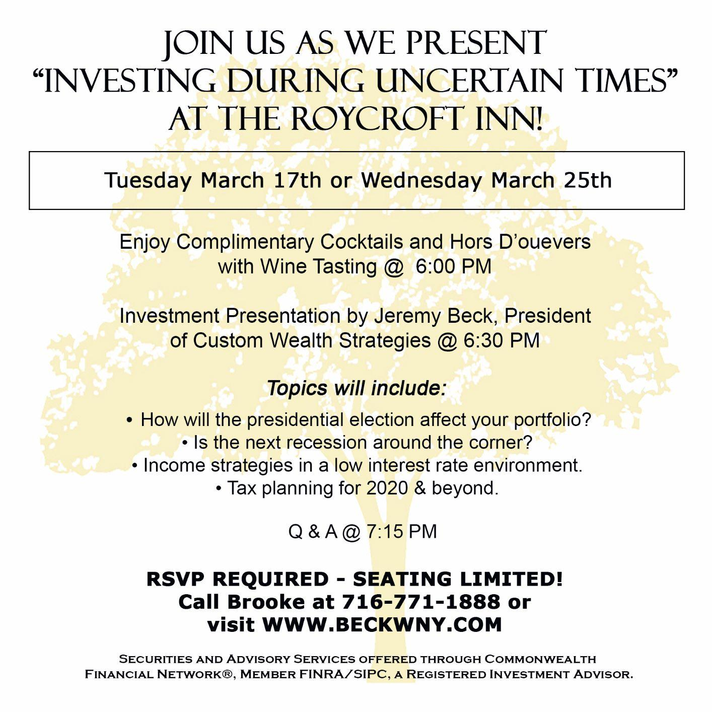 Roycroft March Invitation